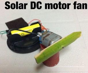 Solar powered DC motor