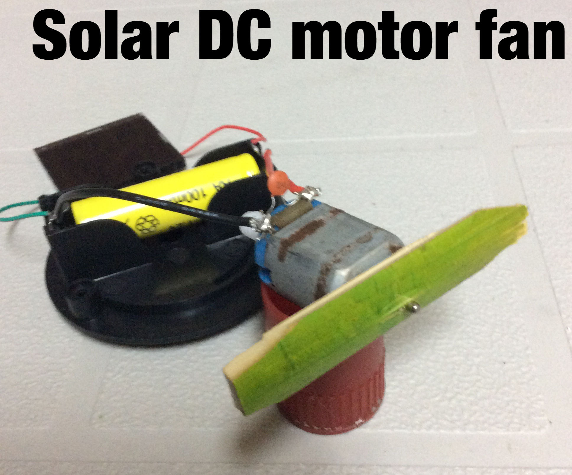 Dc Motor Field Wiring Hooking Up Schematic Diagrams Shunt Diagram Solar Powered 7 Steps With Pictures