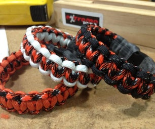 How to Easily Make a Paracord Cobra Bracelet.