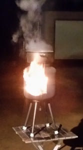 Fuego Prime: the Transforming Flaming Scarecrow/Fire Pit/Patio Heater/Camping Stove