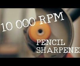Angle Grinder Hack - 10 000 RPM Pencil Sharpener