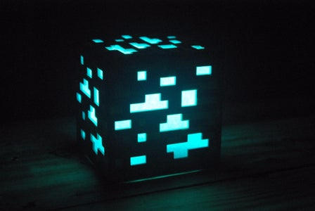 Minecraft Rainbow Ore Lamp