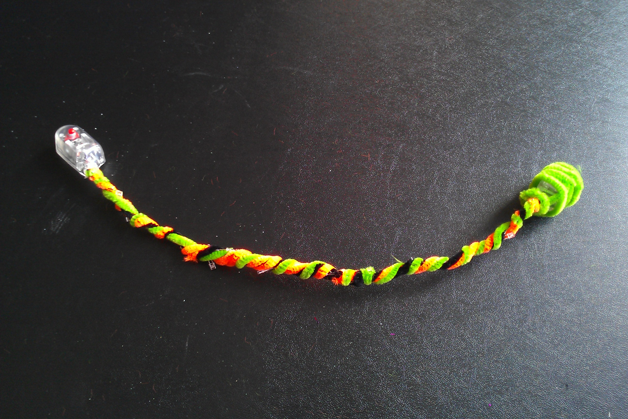 Picture of Wrapping the Pipe Cleaners