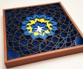 Laser Cut 3D Math Lotus Drawing