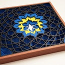Laser Cut 3D Math Lotus Drawing