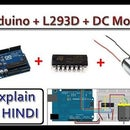 Control a DC Motor using Arduino with L293D