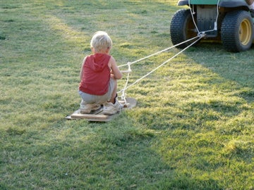 Make Grass Skis From Old Skateboards