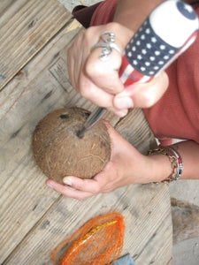 Poke a Hole in the Coconut