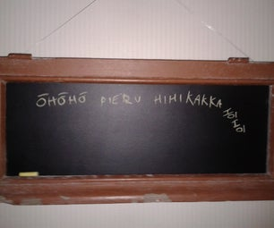 A Chalkboard Made From an Old Window Frame