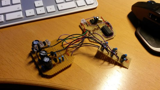 RGB LED Constant Current Fade Effect With Transistors