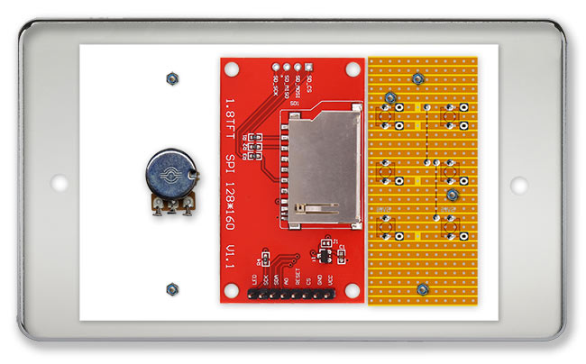 Picture of Construction Mounting Boards/modules on the Front Panel