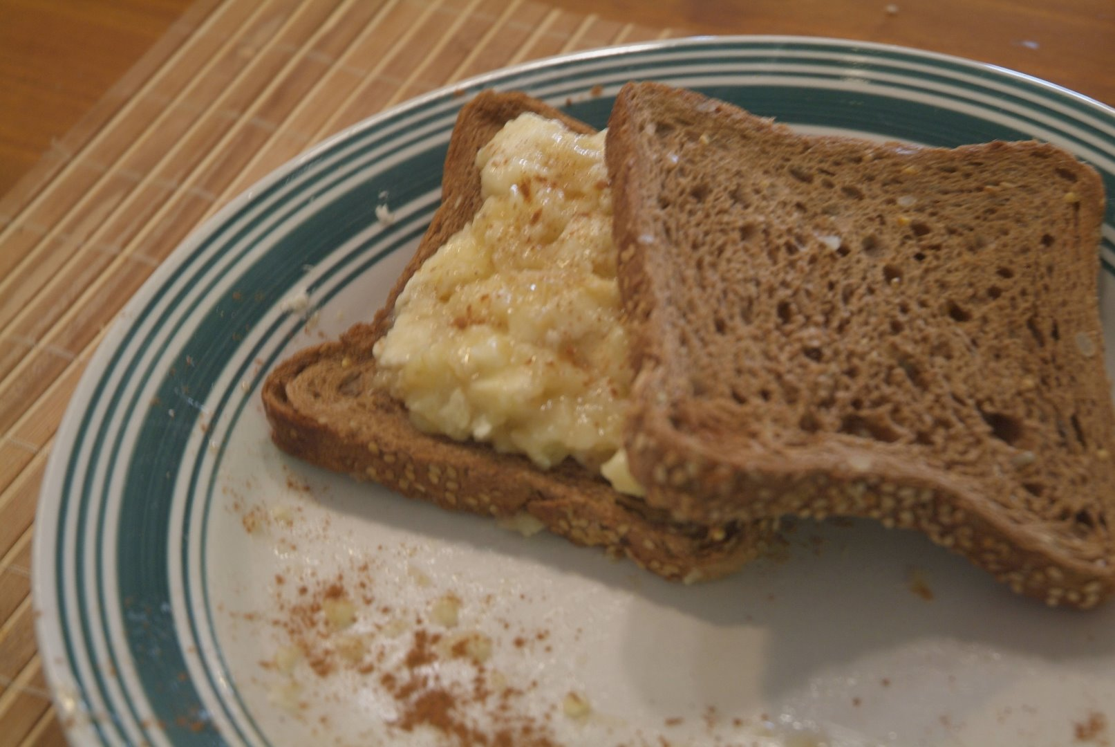 Picture of 1 Minute Toasted Banana Sandwich