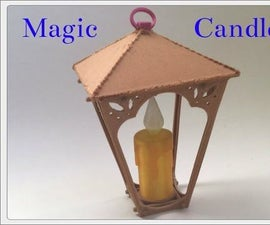Magic Candle With a Kinetic Electric Generator (Fusion 360)