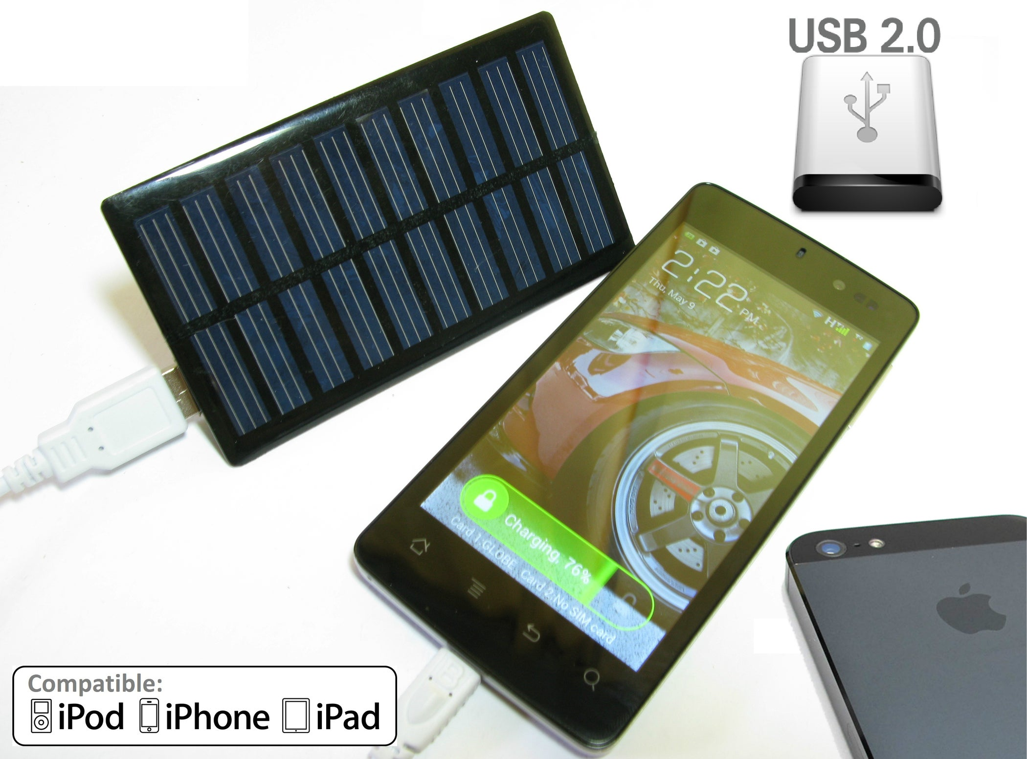 DIY Solar Phone Charger ($5 Battery Free - UPDATED!) : 5 ...