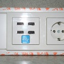 In Wall USB- Socket with full data transfer and charging function