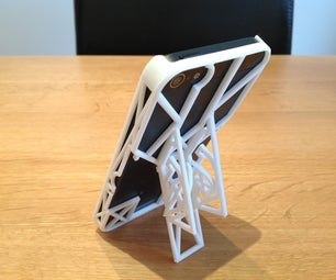 3D Printed Minimalistic IPhone Case With Built in 3 in 1 Kickstands