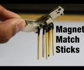 Amazing Matchstick Magnet Trick