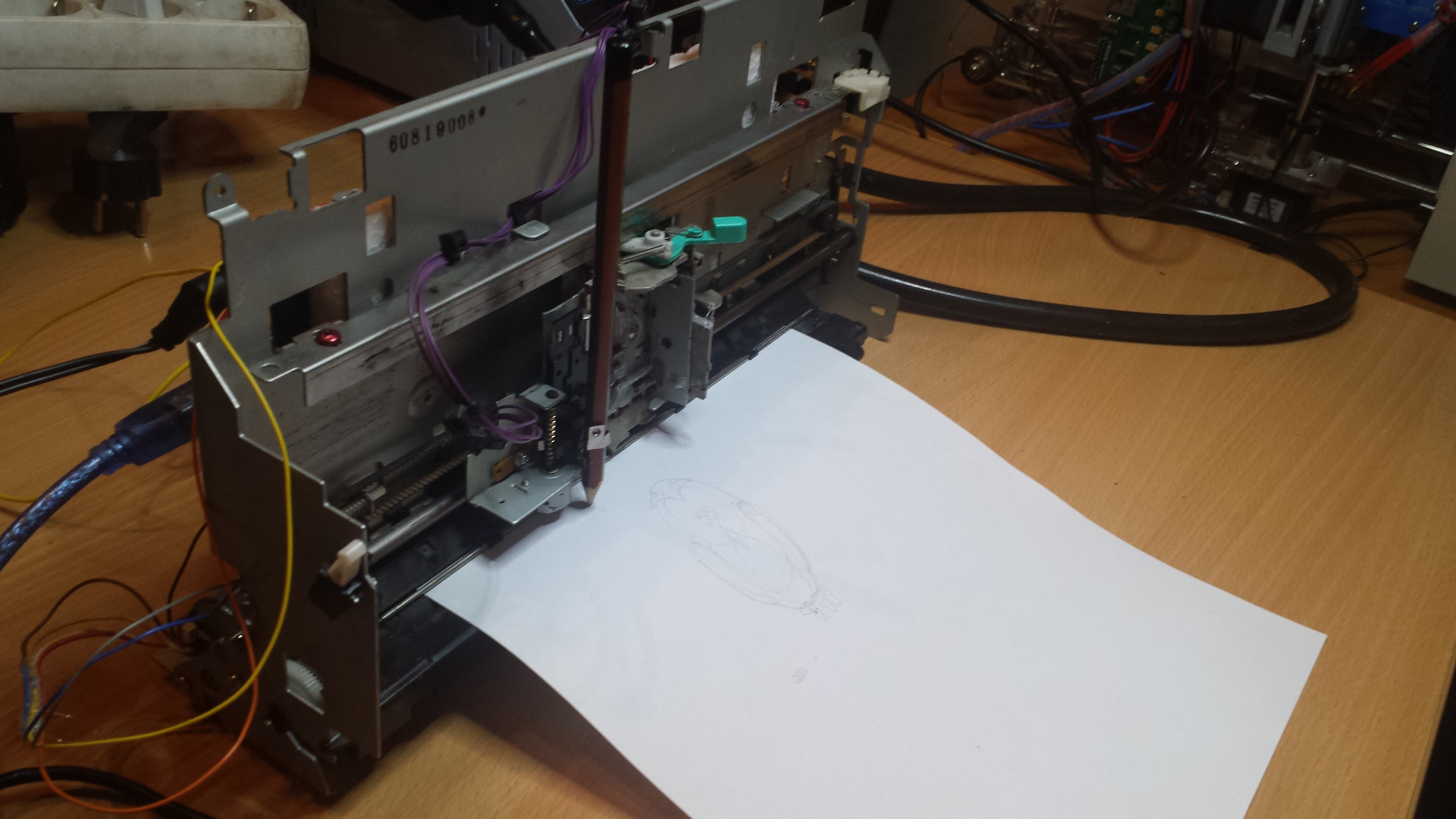 Picture of Reuse Old Fax As a Plotter