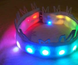 Felt & Neopixel Rainbow Crown