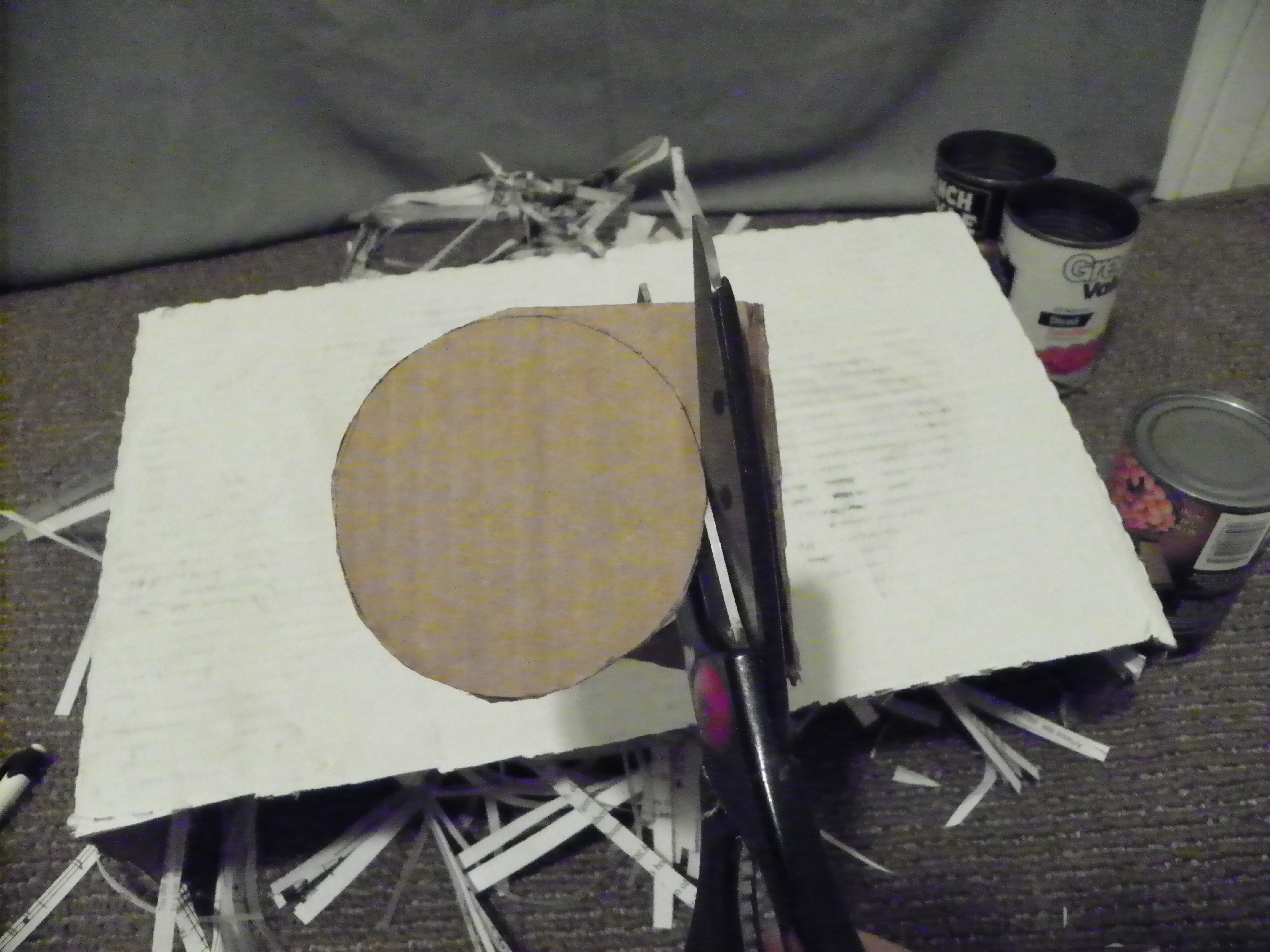 Picture of Cutting Out Cardboard Circles