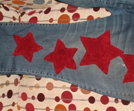 Patch Your Jeans With Fabric Stars