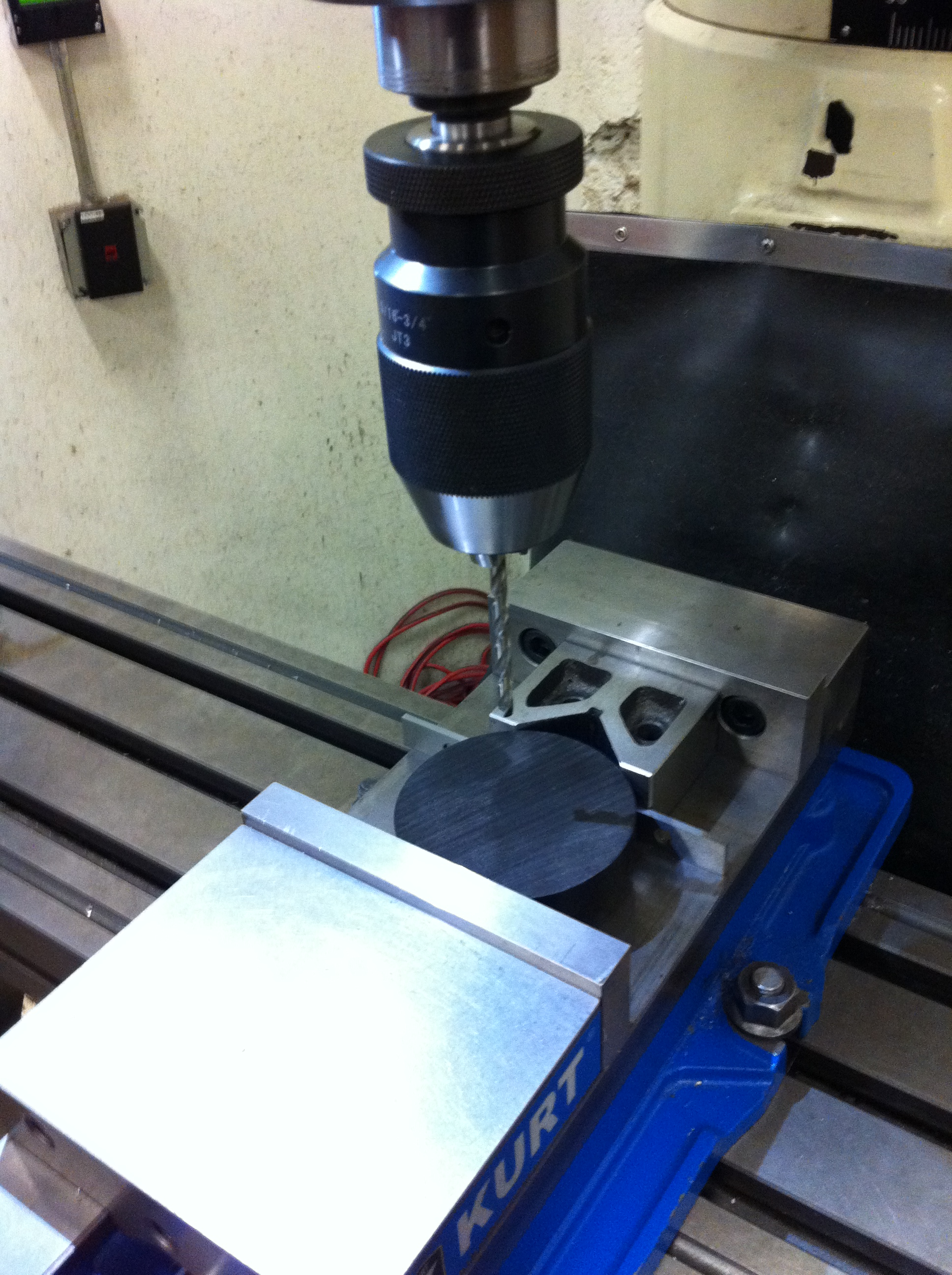 Picture of Using the DRO on the Vertical Mill to Drill a Perfect Circular Pattern