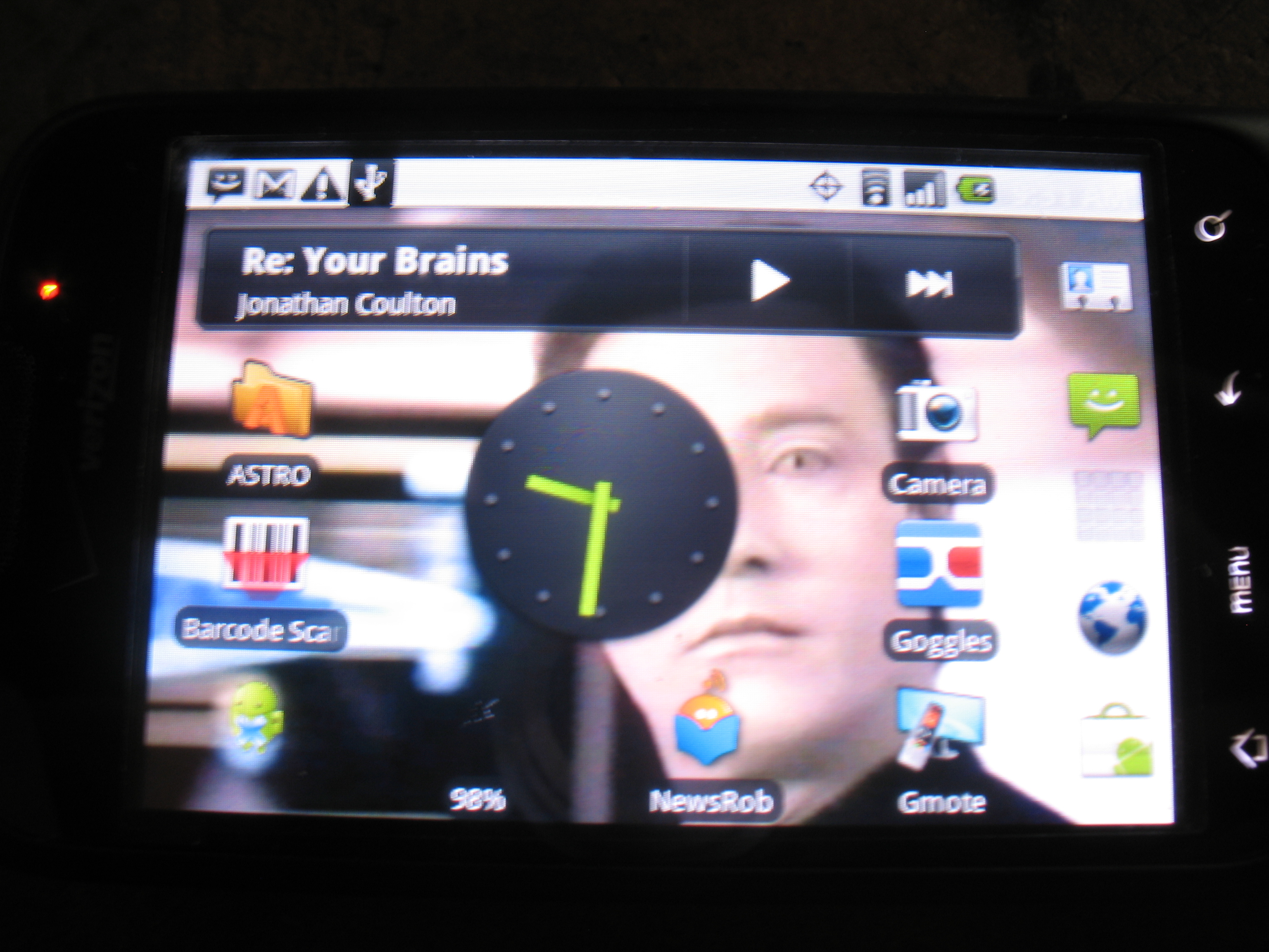 Picture of Rooted Droid Eris Running Tainted Vanilla 1.4