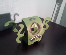 Slime Monster With Following Eye Illusion