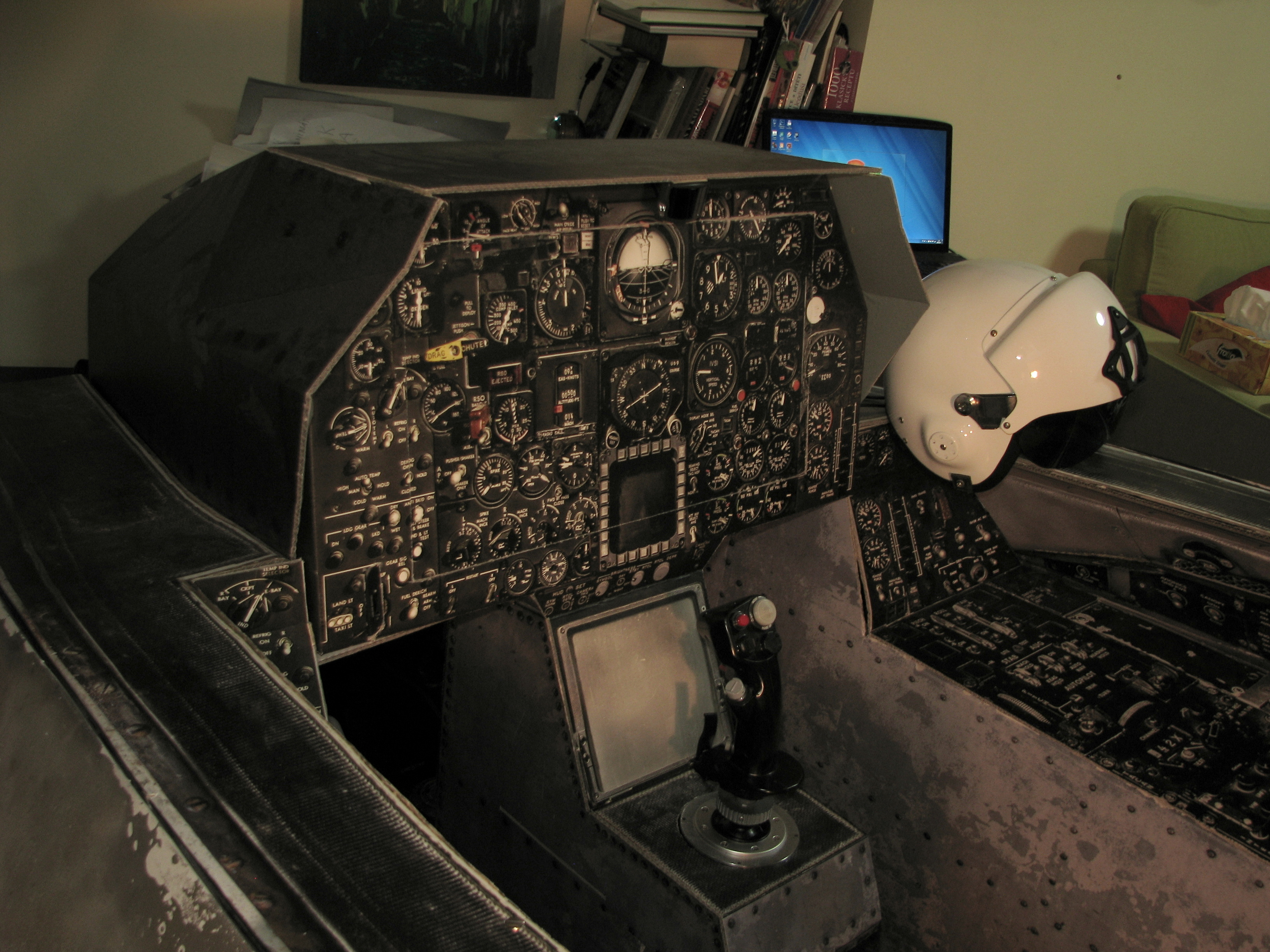 Picture of Full Scale Fighter Jet Cockpit From Cardboard