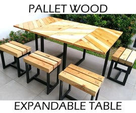 Simple Extendable Table Set With Hand-held Tools