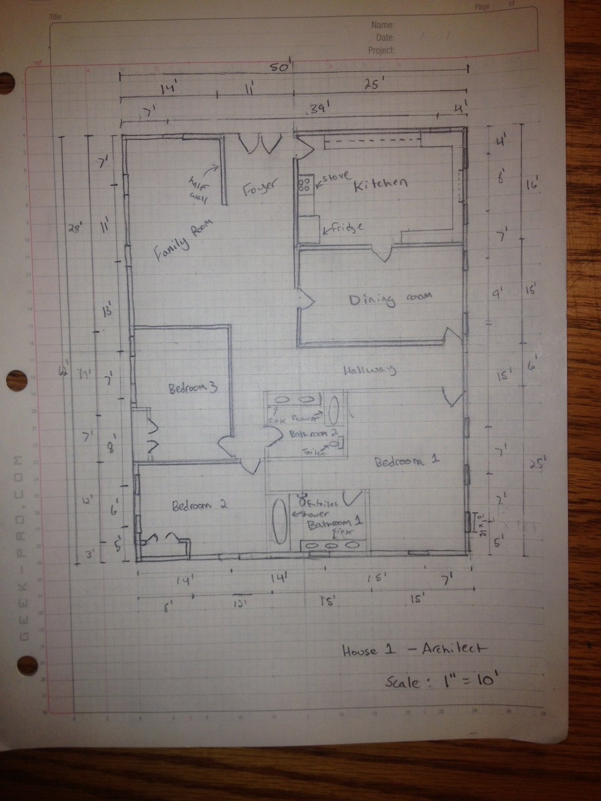 How to Manually Draft a Basic Floor Plan : 11 Steps - Instructables