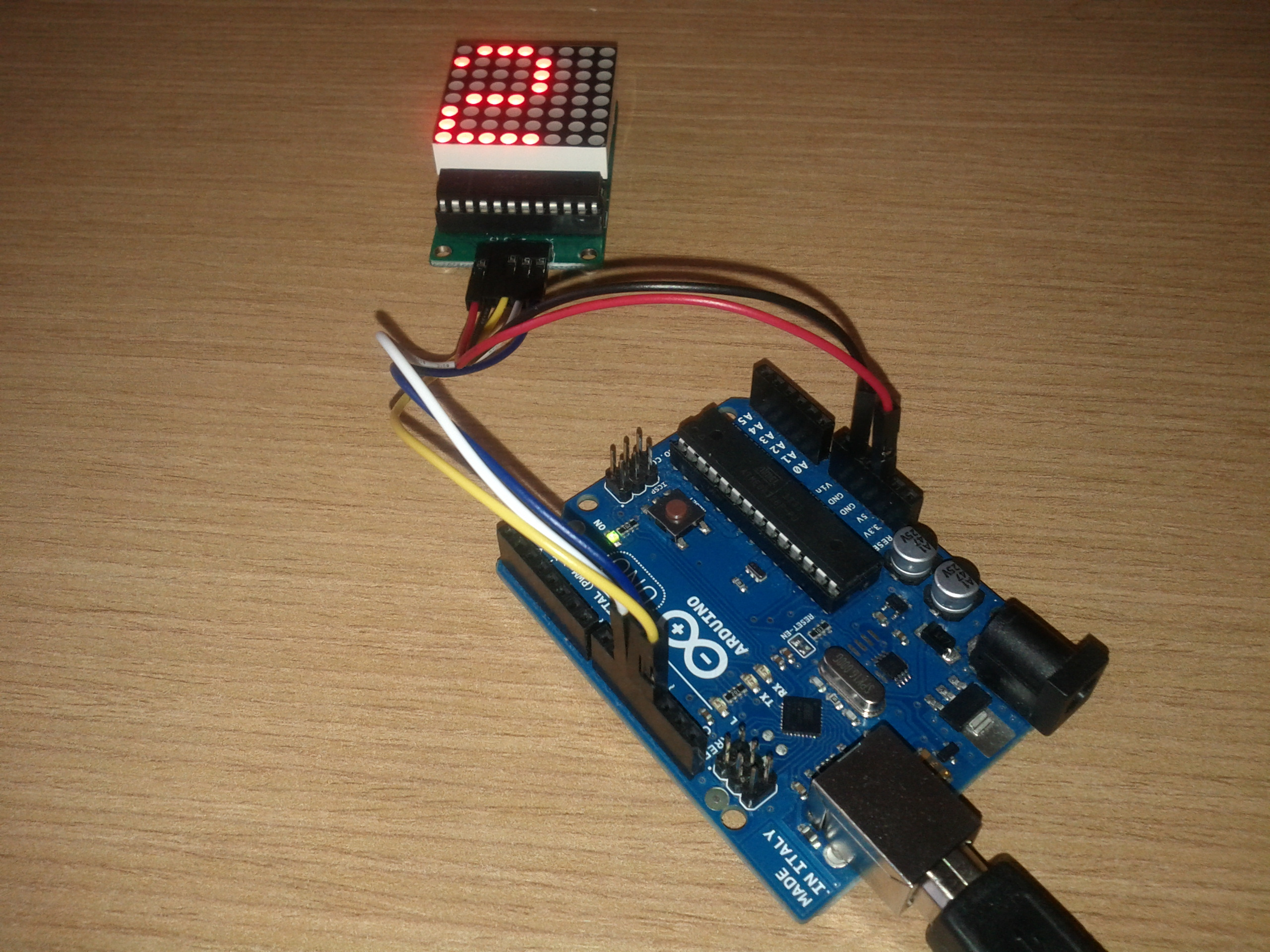 Picture of LED Matrix With Arduino