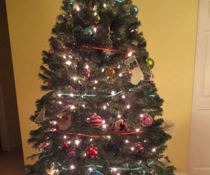 EL Wire Christmas Tree Lighting