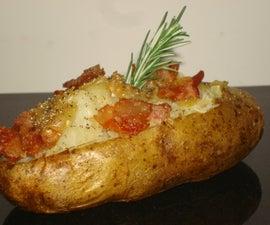 Bacon and Rosemary Salt Baked Potato