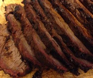 Smoked Brisket on BBQ Pit Without Smoker Box