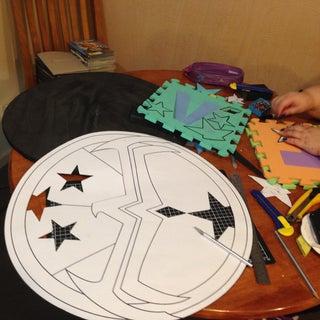 Make a Super-heroine Shield