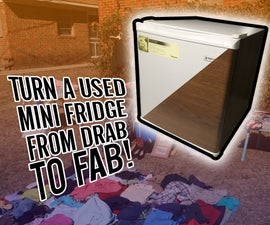 Turn a Used Mini Fridge From Drab to Fab!