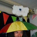Weatherman costume with real rain