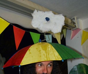 Weatherman Costume With Real Rain