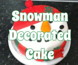 Snowman Decorated Cake