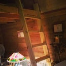 Simple Tiny House Loft Ladder
