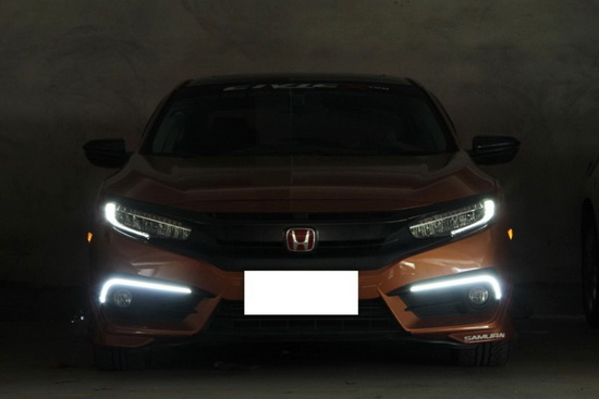 Picture of IJDMTOY 10th Gen Honda Civic LED DRL Light Installation