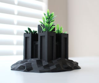 3D Printed Castle Planter (TinkerCAD)