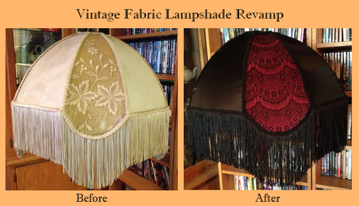 Vintage Fabric Lamp Shade Revamp