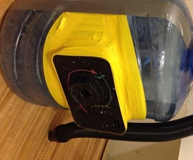 Up-cycle (popped air mattress + water bottle = shop vac)