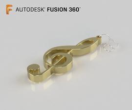 Llavero Clave De Sol En Fusion 360
