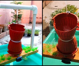 DIY Hour Glass Water Feature