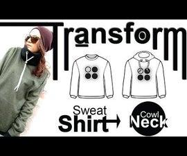 Easy DIY Transformation: Sweatshirt - Cowl Neck