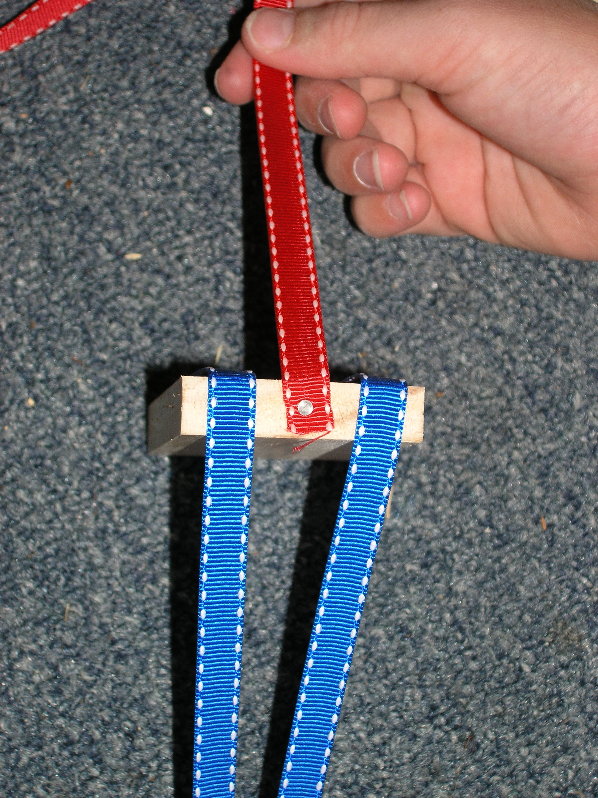 Picture of Nail the Ribbons to the First Block