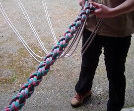 Braided climbing rope
